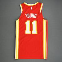 Trae Young - Atlanta Hawks - Game-Worn Icon Edition Jersey - Scored Game-High 25 Points - 2020-21 NBA Season