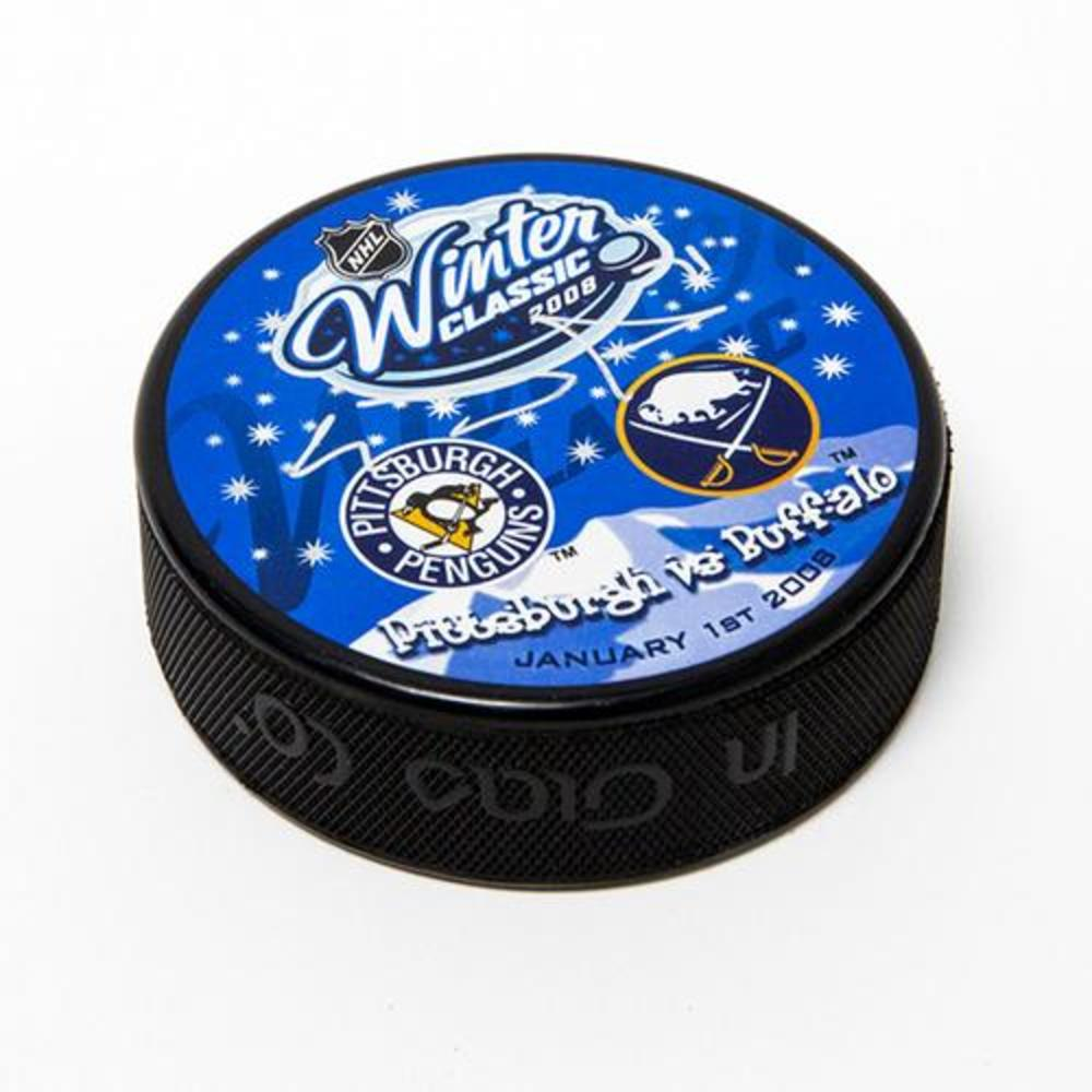 Evgeni Malkin Pittsburgh Penguins Autographed 2008 Winter Classic Puck
