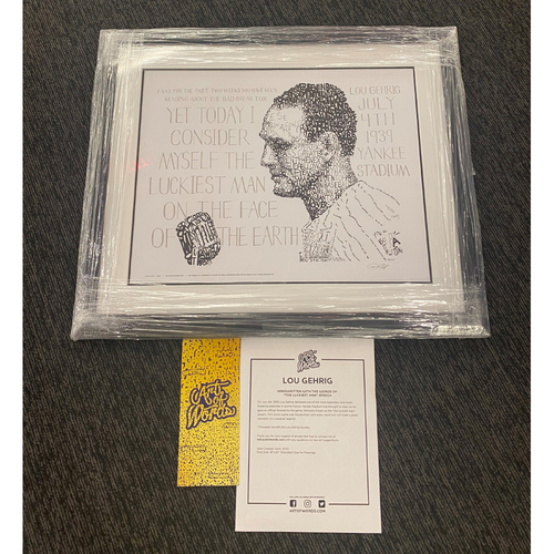 Photo of Lou Gehrig Day Framed Photo Of Lou Gehrig's Farewell Speach