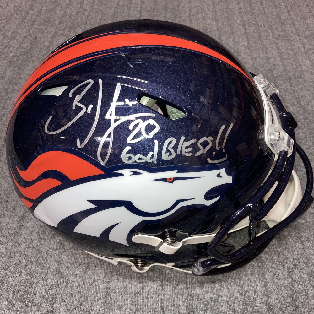 PCC - Broncos Brian Dawkins Signed Revolution Helmet