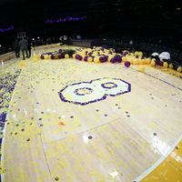 Kobe Bryant's Final Game - The No. 8 of the Staples Center Hardwood Court  - Autographed by Kobe