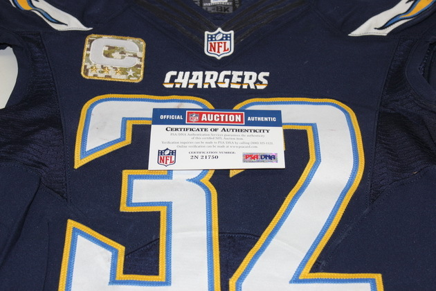 NFL Auction | STS - CHARGERS ERIC WEDDLE GAME WORN CHARGERS JERSEY ...