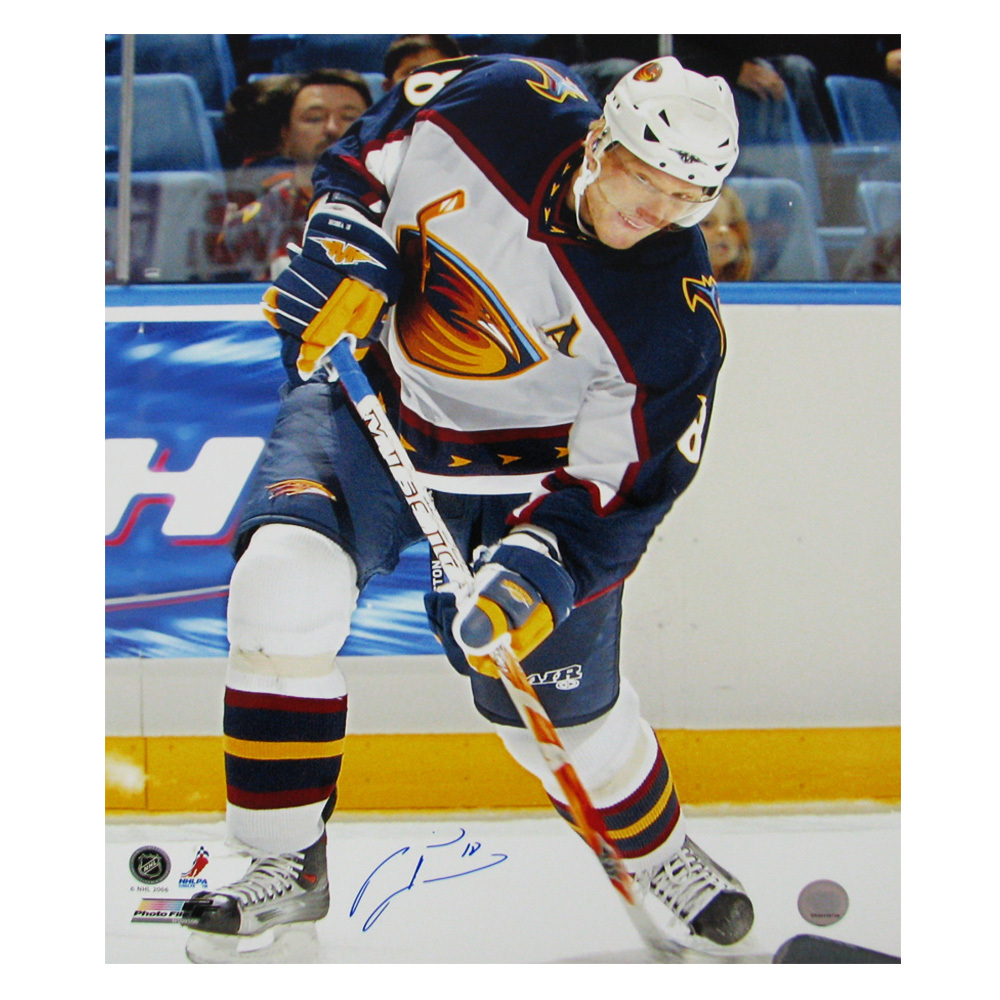 MARIAN HOSSA Signed Atlanta Thrashers 16 X 20 Photo - 79009
