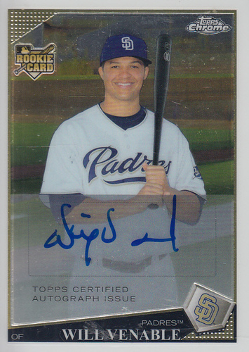 Photo of 2009 Topps Chrome #NNO3 Will Venable AU RC
