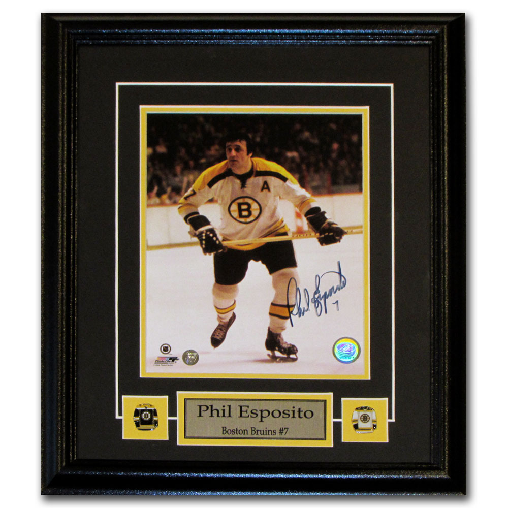 Phil Esposito Autographed Boston Bruins Framed 8X10 Photo