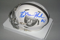 NFL - RAIDERS RODNEY HUDSON SIGNED RAIDERS ICE MINI HELMET
