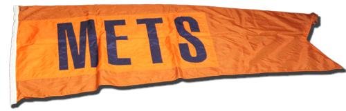 Wrigley Field Collection -- Scoreboard Flag -- Mets
