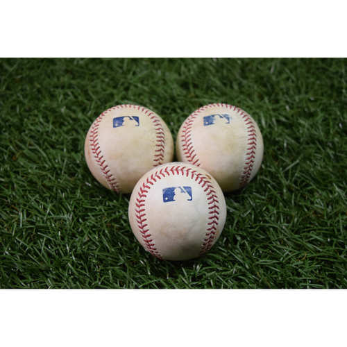Photo of Game Used Baseball Package: Tampa Bay Rays vs Minnesota Twins - September 6, 2017