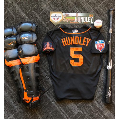 Photo of San Francisco Giants - Nick Hundley Game-Used Memorabilia Ultimate <i>From The Clubhouse</i> Collector's Pack