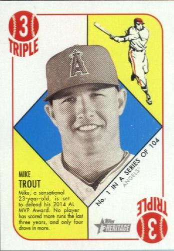 Photo of 2015 Topps Heritage '51 Collection #1 Mike Trout
