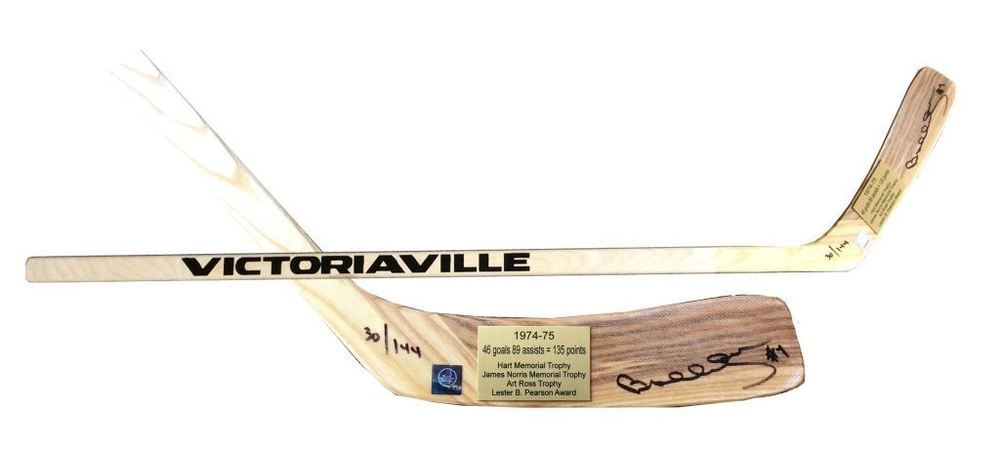 Bobby Orr Signed Stick Victoriaville 1974-75 Season