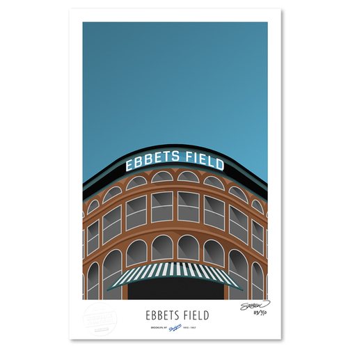 Photo of Ebbets Field - Collector's Edition Minimalist Art Print by S. Preston #119/350  - Brooklyn Dodgers