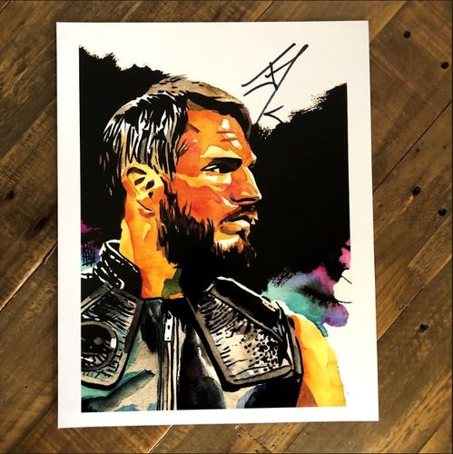 Photo of Johnny Gargano SIGNED 11 x 14 Rob Schamberger Print