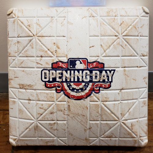 Photo of 2017 Opening Day Game-Used Base - Atlanta Braves at Pittsburgh Pirates - 3rd Base Used In Innings 7-9 - 4/7/17