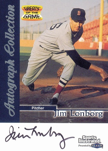 Photo of 1999 Sports Illustrated Greats of the Game Autographs #44 Jim Lonborg