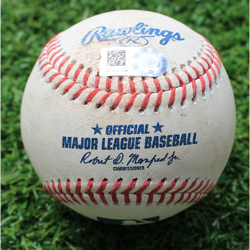 Photo of Game-Used Baseball: Ryon Healy 72nd Career Double (SEA @ KC - 4/9/19)