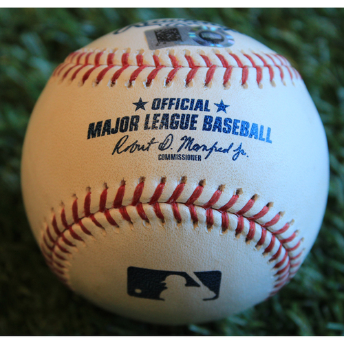 Game-Used Baseball: Kyle Gibson Pitched Strikeout to Nick Dini (9/28/19 - MIN @ KC)