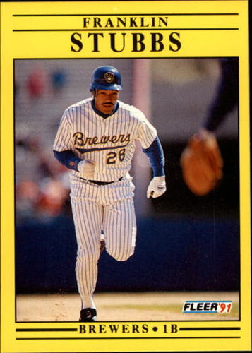 Photo of 1991 Fleer Update #34 Franklin Stubbs