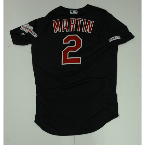 Photo of Leonys Martin Team Issued 2019 Navy Road Alternate Jersey