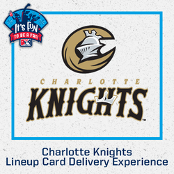 Photo of Charlotte Knights Lineup Card Delivery Experience