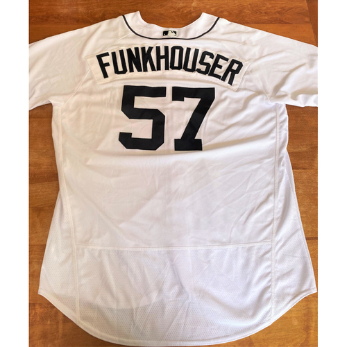 Photo of Kyle Funkhouser Team Issued Detroit Tigers #57 Home Jersey (MLB AUTHENTICATED)