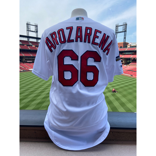 Photo of Cardinals Authentics: Team Issued Randy Arozarena Home White Postseason Jersey