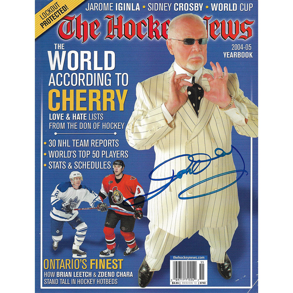 Don Cherry Autographed The Hockey News 2004-05 Yearbook