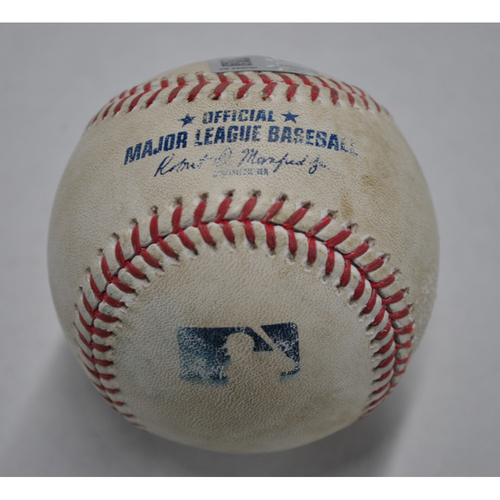 Photo of Game-Used Baseball - CWS vs. PIT - 9/9/2020 - Pitcher - Nick Tropeano, Batter - Eloy Jimenez, Top 7, Ground Rule Double