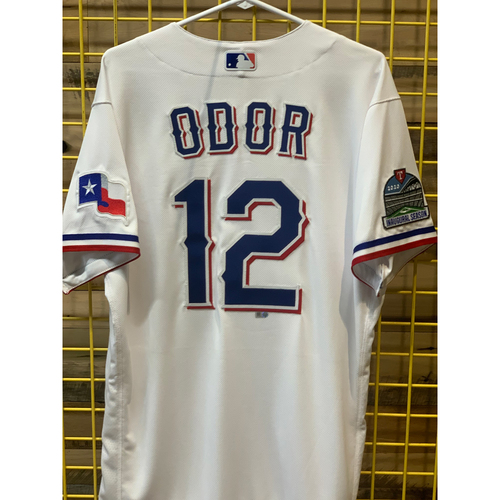 Rougned Odor Team-Issued White Jersey