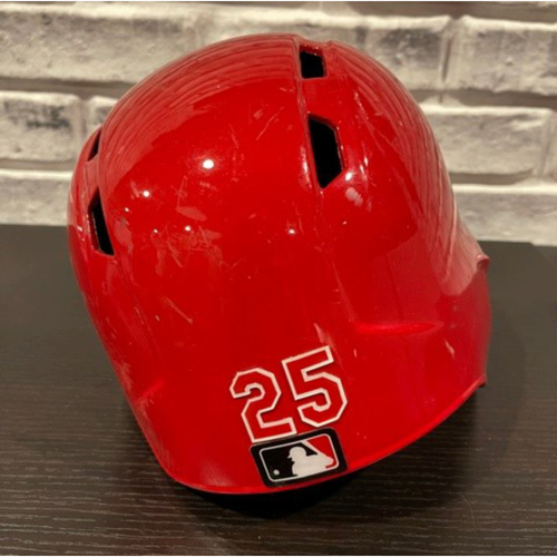 Photo of No. 25 -- Team-Issued Helmet -- Right Ear Flap -- Size 7 1/4