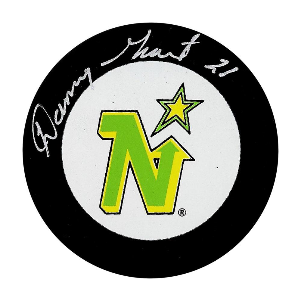 Danny Grant Autographed Minnesota North Stars Puck