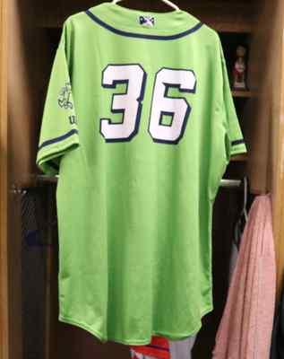 Stockton Ports Grant Holman Asparagus jersey, #36, Size 50