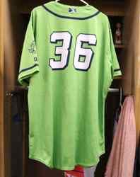 Photo of Stockton Ports Grant Holman Asparagus jersey, #36, Size 50
