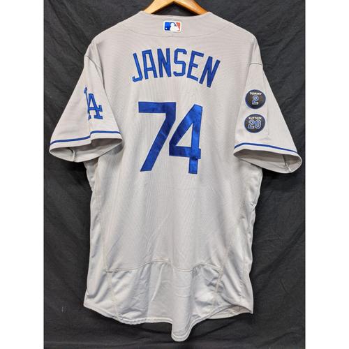 Photo of Kenley Jansen Game-Used Jersey (36th Save) - Last Road Game of 2021 Regular Season - 9/26 at ARI
