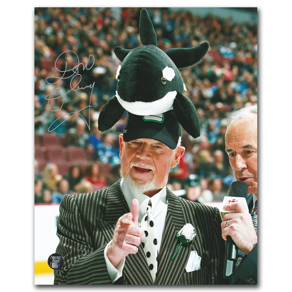 Don Cherry Autographed 8X10 Photo (Vancouver Canucks)