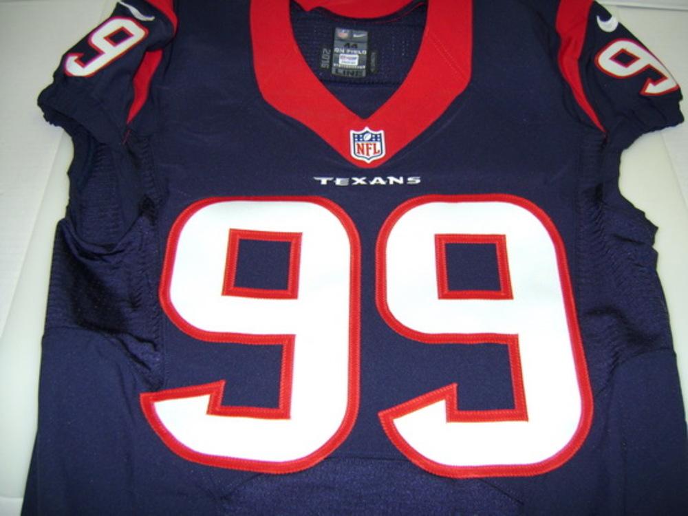 low priced dbb21 9ab24 NFL Auction | NFL - TEXANS J.J. WATT SIGNED AUTHENTIC TEXANS ...