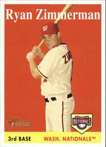 Photo of 2007 Topps Heritage #98a Ryan Zimmerman