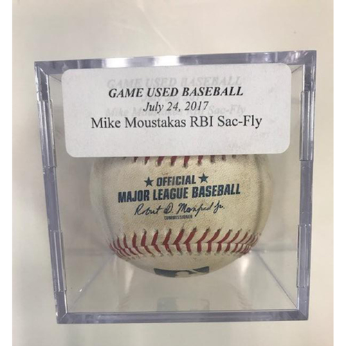 Game-Used Mike Moustakas RBI Sac-Fly