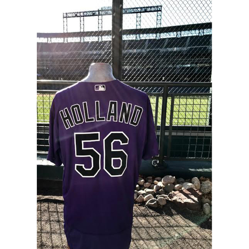2017 National League Comeback Player of the Year Award Winner Greg Holland Game-Used Jersey.