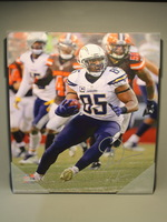 CHARGERS - ANTONIO GATES SIGNED 16X20 CANVAS PRINT