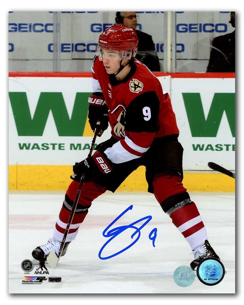 Clayton Keller Arizonia Coyotes Autographed Hockey Action 8x10 Photo