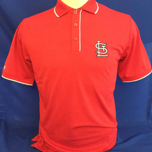 Photo of UMPS CARE AUCTION: St. Louis Cardinals Antigua Polo, Size Medium