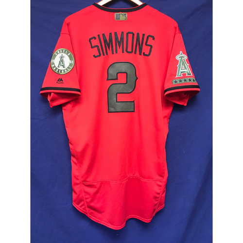 Photo of Andrelton Simmons Game-Used 2018 Memorial Day Jersey