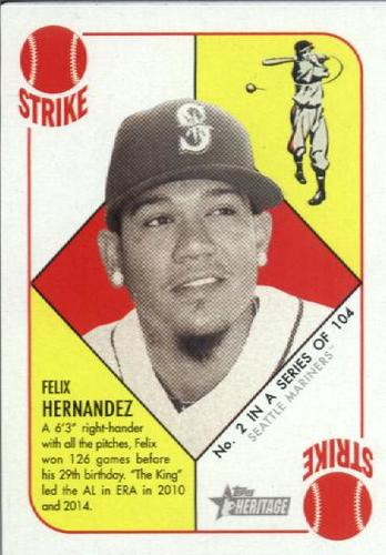 Photo of 2015 Topps Heritage '51 Collection #2 Felix Hernandez