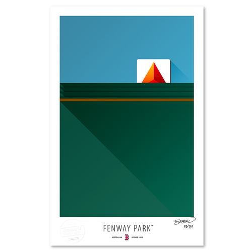 Photo of Fenway Park - Collector's Edition Minimalist Art Print by S. Preston #119/350  - Boston Red Sox