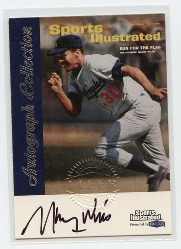Photo of 1999 Sports Illustrated Greats of the Game Autographs #78 Maury Wills