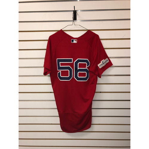 Photo of Joe Kelly Game Used September 29, 2017 Home Alternate Jersey