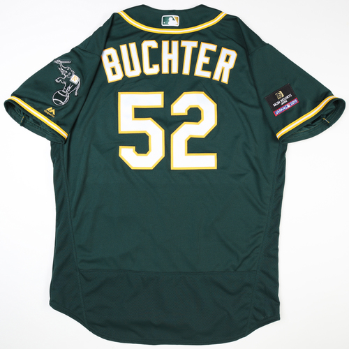 Photo of 2019 Japan Opening Day Series - Game Used Jersey - Ryan Buchter, Oakland Athletics at Nippon Ham Fighters -3/17/2019