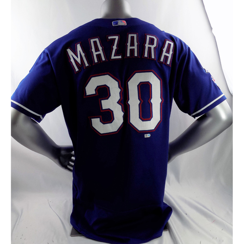 Photo of Game-Used Blue Jersey - Nomar Mazara - 4/3/19, 5/4/19