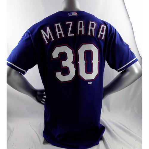 Game-Used Blue Jersey - Nomar Mazara - 4/3/19, 5/4/19